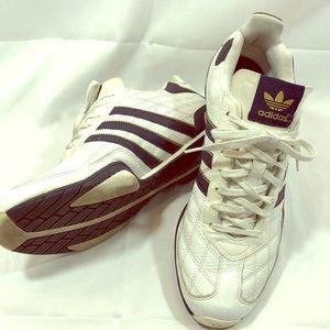 Team Adidas Navy & White 3 Stripe Leather Sneaker